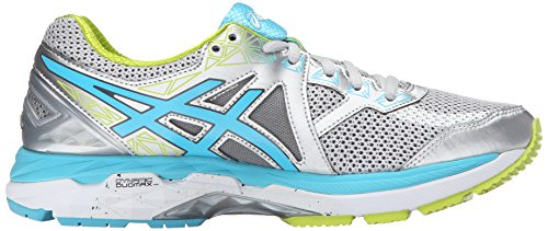 Asics Gel-Kayano 23 Fibra sintética Zapato para Correr Silver-Turquoise-Lime Punch