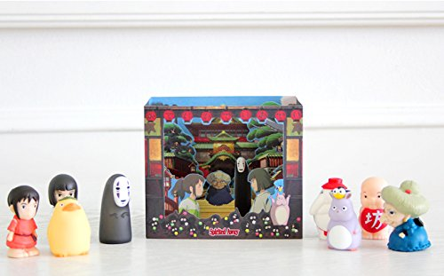 Studio Ghibli Characters Dimensional Cards Diorama 4 Types Limited Edition - My Neighbor Totoro, Kiki's Delivery Service, Spirited Away, Ponyo on the Cliff By the Sea (Spirited away) Photo #3