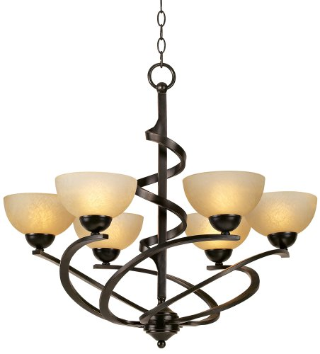 Franklin Iron Works 27 1/2 W Dark Mocha Ribbon Chandelier