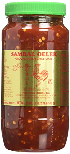 Huy Fong, Sambal Oelek Chili Paste, 18-Ounce Bottles (Pack of 6)
