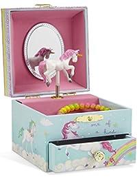 Musical Jewelry Box, Unicorn Rainbow Design with Pullout Drawer, The Unicorn Tune