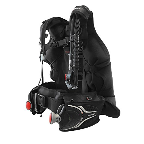 Mares Journey 3.0 Back-Inflation Scuba Bcd with Integrated Weight Pockets Large Black