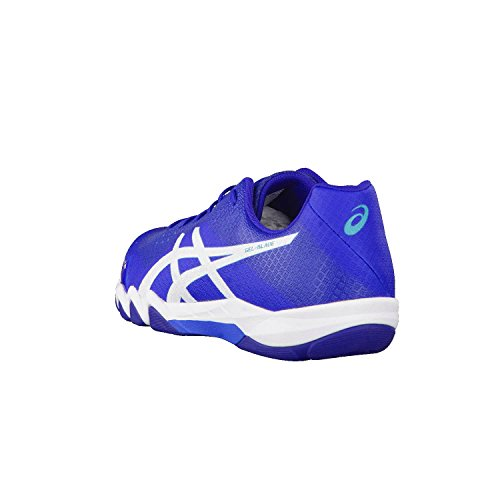 Para clair foncé Deporte Interior bleu Hombre blanc Zapatillas Gel bleu 6 Asics Blade de 0UUqaO