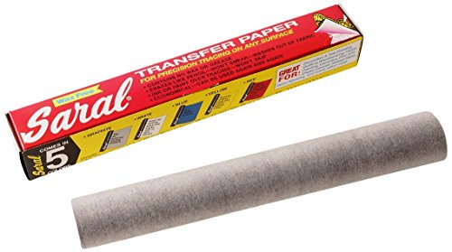 Saral Transfer paper - 12 Foot Rolls, Graphite - 2 Pack by SARAL PAPER