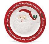 Santa's Rosy Cheeks Plate Ceramic Christmas Eve Holly