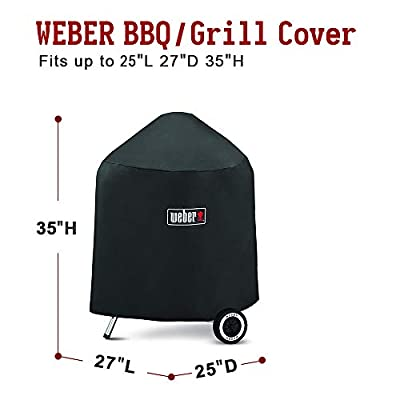 Weber7149 Grill Cover for Weber Charcoal Grills, 22.5-Inch with Storage Bag?27 X 25 X 35 inches