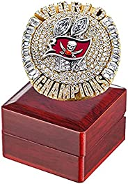 2020 Tampa Bay Championship Fans Ring with Box Buccaneers Champions Tom 12 Brady Goat Christmas Birthday Gifts