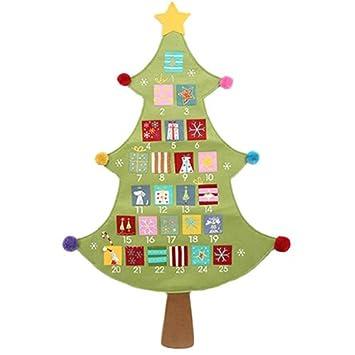 gisela graham tela de la navidad rbol de calendario de adviento