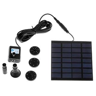 Anself Bomba de agua de Energía Solar para fuente de piscina y jardín riego a las plantas