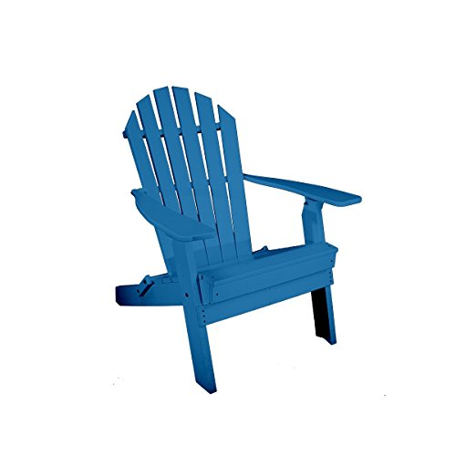 Rocky Ridge Outdoor Furniture Folding Adirondack Chair, Blue Review