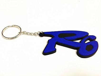 Motor _ Pro clave azul llavero cadena para Yamaha YZF R6 R6S ...