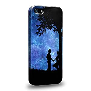 Case88 Premium Designs Art Dreamscapes Silhouettes Love Carcasa/Funda dura para el Apple iPhone 5 5s