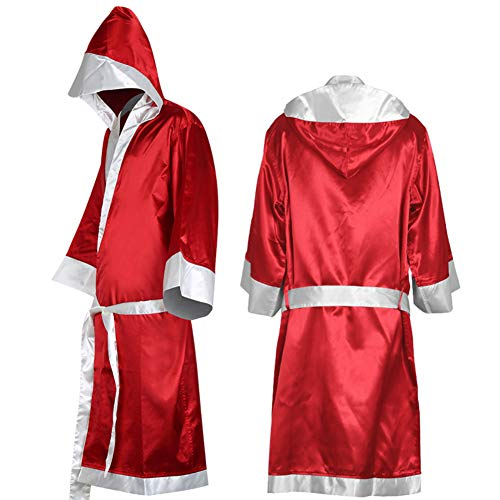 Jiecikou Boxing Robe Cloak with Hood Men and Women Boxer Costume Red M]()