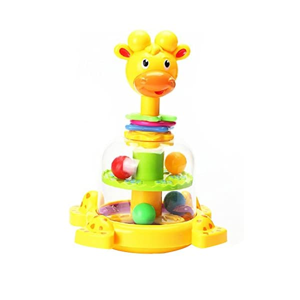 Fajiabao Birthday Gifts for Kids Baby Gifts Funny Rotary Giraffe with Colorful Balls and Loops for Early Educational Learning