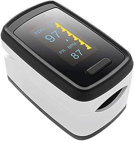 Oxímetro de pulso,Medidor Digital de Oxígeno en Sangre y Sensor de Pulso con Alarma SPO2 Para el Hogar, Fitness y Deportes Extremos