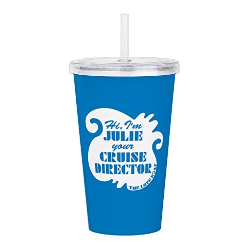 CafePress - Retro Love Boat Julie - Insulated Straw Cup, 20oz Acrylic Double-Wall Tumbler ()