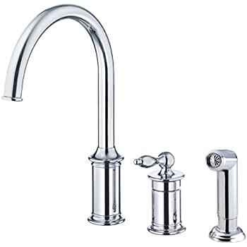 Danze D454510ss Prince Pull Down Kitchen Faucet Stainless