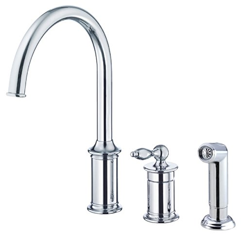 Danze D409010 Prince Single Handle Kitchen Faucet with Side Spray, ()