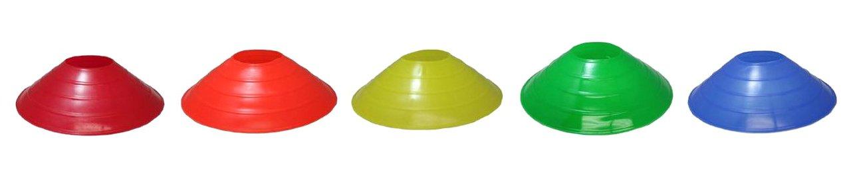 Blue Dot Trading Sport Disc Cones, 25 Pack, Multi color, with Holder 25_multi_disc_holder