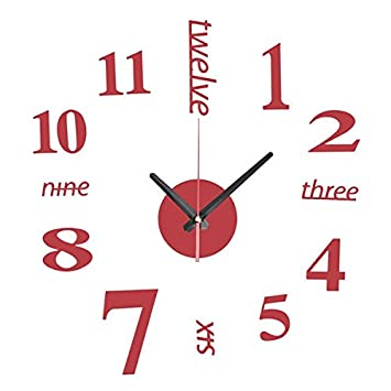 Esportsmjj Diy Mini Modern Art Miroir Horloge Murale 3d Sticker