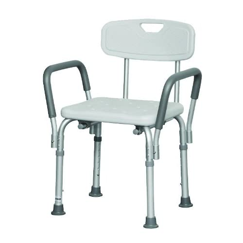 PMI302 - Professional Medical Imports (pmi) Bath Bench with Back and Arms 16 W x 13 D Seat Dimension free shipping