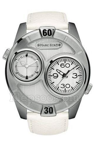 Marc Ecko Men's E16584G3 The Maestro White Leather Strap Watch