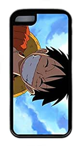 iphone 6 4.7 Case, iphone 6 4.7 Cases - Black Soft Rubber Shock-Absorption Bumper Case for iphone 6 4.7 Monkey D Luffy Smiling One Piece Anime Water Resistant Back Case for iphone 6 4.7