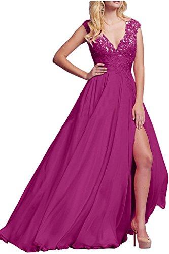 Pink Braut Abschlussballkleider Langes V Marie Damen Ballkleider Ausschnitt Spitze Promkleider La Abendkleider AwqSpC5