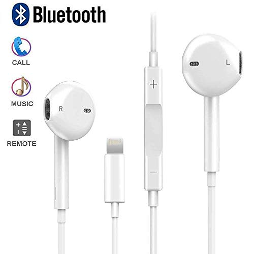 Bluetooth Headphones 8 Plus, Stereo Earbuds with Mic and Remote Control Ear Buds Noise Cancelling Headset 7Plus, Compatible with 7 8 X XR XS Max Earphones Microphone