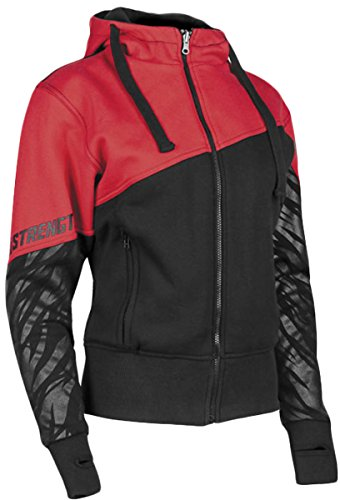 Speed and Strength Cat Out'a Hell 2.0 Armored Hoody Women's Street Motorcycle Jacket - Red/Black / Large (Red Motorcycle Jacket Women)