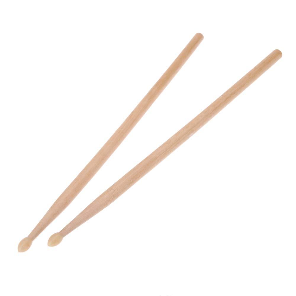 Goodplan 5A Drumstick Maple Color Drum Stick Outils daccompagnement musical Accessoires batterie 1 Paire