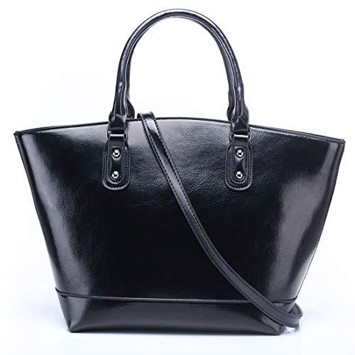 Las Cera Moda color Hombro Brown Asas Mujeres Coreana Bolsa La Aceite Marea Black Del Diagonal De Felicioo Bolso Versión qzwC4