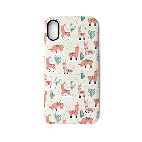 Xanx Smon iPhone X Case iPhone Xs Case Pink Llama Llama Party TPU Shockproof Protective Phone Case Cover for iPhone X/iPhone Xs