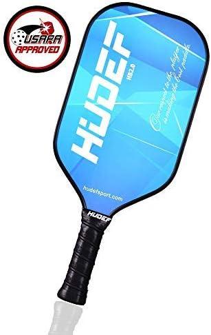 HUDEF Pickleball Paddle,Pickleball Paddles Set,USAPA Approved Lightweight Graphite Carbon Fiber Face Pickleball Paddle Racquet Rackets Large Grip Long ...