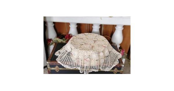 Amazon.com: 100% algodón hecho a mano Crochet mesa dollies ...