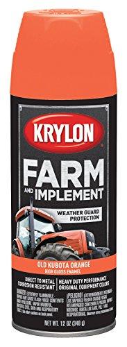 Krylon K01821000 Kubota Orange Farm Paint, 12 oz