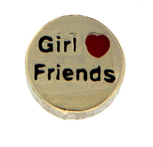Heart Girl Friends Floating Locket Charm Clearly Charming 010-013-010-0031