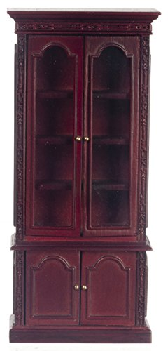 Platinum Collection Dollhouse Miniature Resolute Bookcase Mahogany #P3341