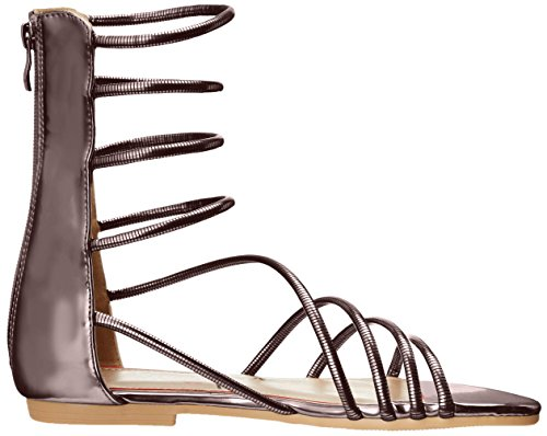 Luichiny Women's Better Look Gladiator Sandal, Gold Pewter