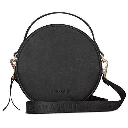 (Expatrié Round Bag Black Small Women Celine Crossbody Fashion Trendy Handbag)