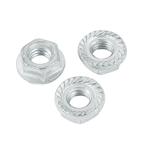 uxcell M6 Carbon Steel Zinc Plated Serrated Flange Hex Machine Screw Lock Nuts 100pcs by uxcell (Image #1)
