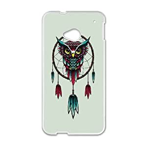 HTC One M7 Cell Phone Case White Owl Dream Catcher SLI_746605