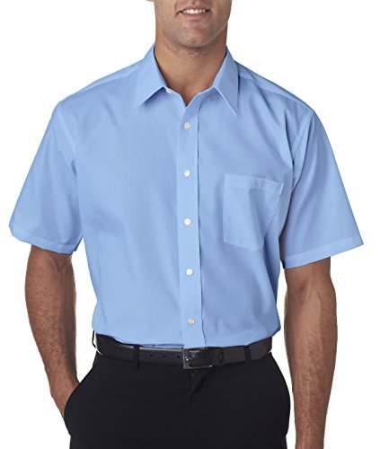 de2c5a66c Van Heusen Men's White Broadcloth Wrinkle free Short Sleeve Dress Shirt - Buy  Online in Oman. | Apparel Products in Oman - See Prices, Reviews and Free  ...