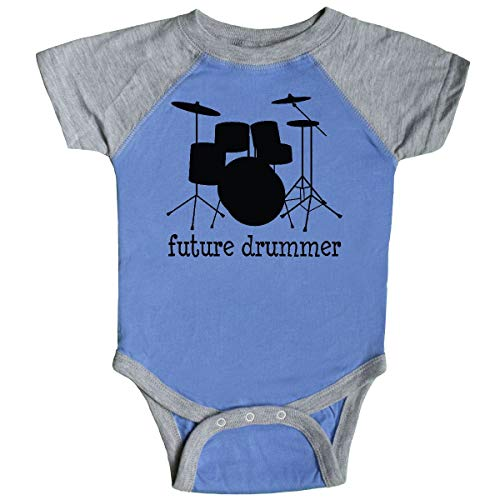 (inktastic - Future Drummer Infant Creeper 6 Months Blue and Heather)