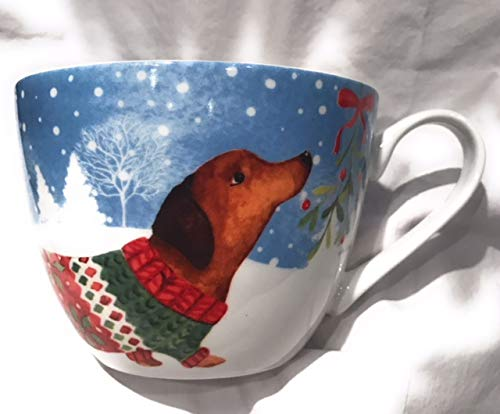 Portobello By Inspire Dachshund Wiener Dog Christmas Holiday Bone China Large ()