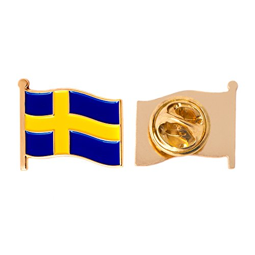 Enamel Womens Pins - Sweden Country Flag Lapel Pin Enamel Made of Metal Souvenir Hat Men Women Patriotic Swedish (Waving Flag Lapel Pin)