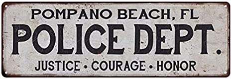 Image Unavailable Not Available For Color Pompano Beach FL Police DEPT Home Decor