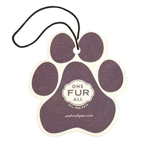 One Fur All Pet House Car Air Freshener, Pack of 4 - Lavender Green Tea - Non-Toxic Air Freshener, Pet Odor Eliminating Air Freshener for Car, Ideal for Small Spaces, Dye Free Dog Car Air Freshener ()