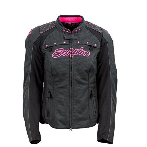 Scorpion Vixen Women's Leather Street Motorcycle Jacket - Pink / X-Small