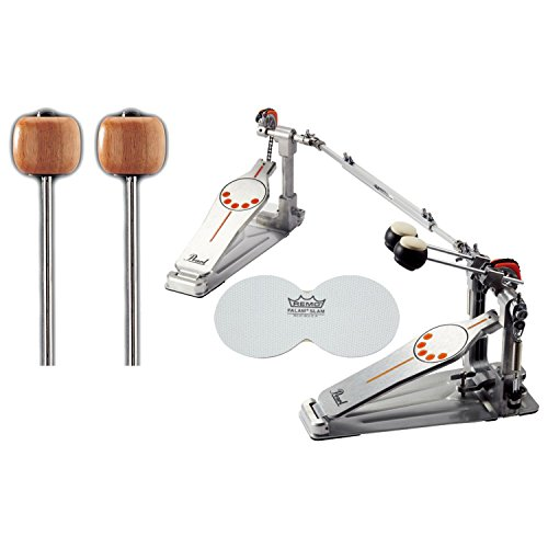 Pearl Drum Pedal (Pearl P932 Double Bass Drum Pedal w/ Extra Wood Beaters and a Bass Drum Patch)